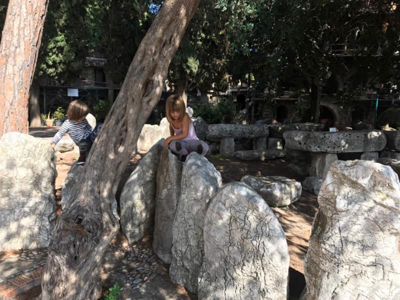 Climbing the rocks in Garden