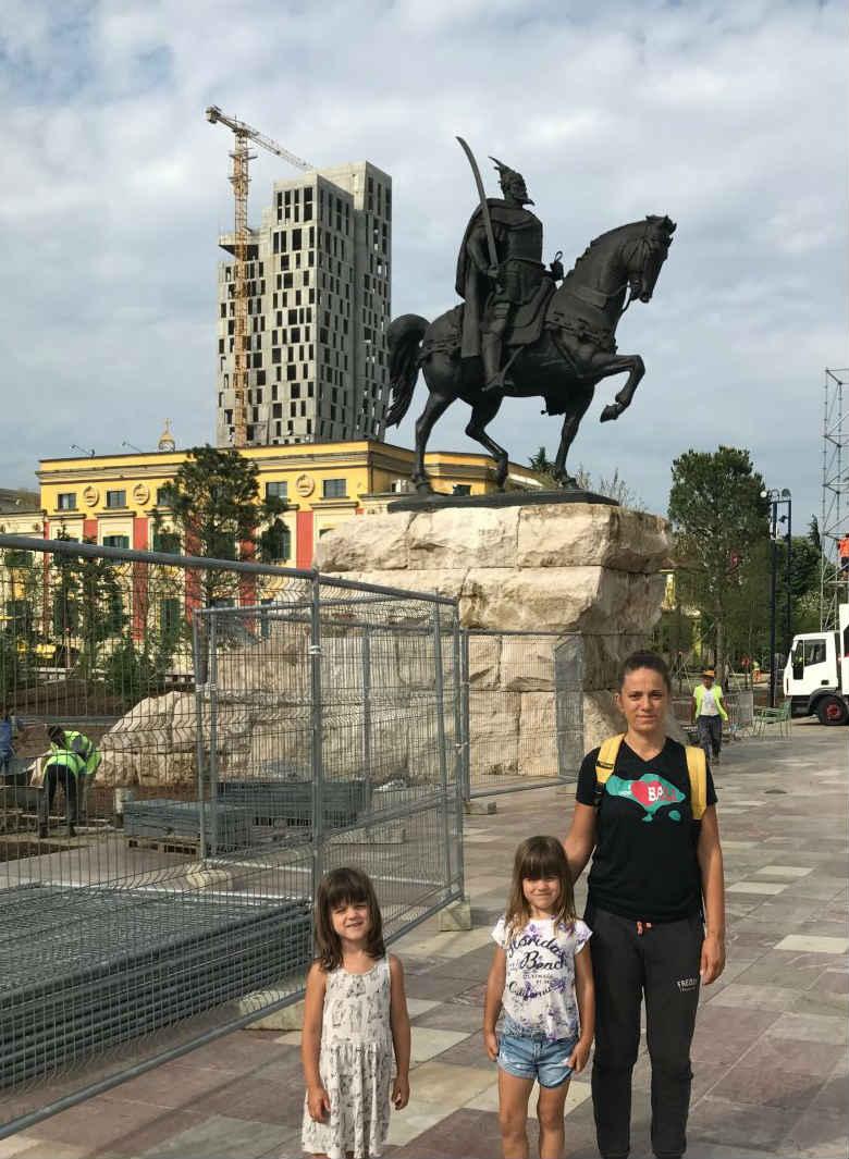 Skenderbeg square under reconstruction
