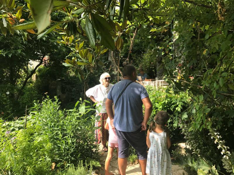 Serpentine organic garden