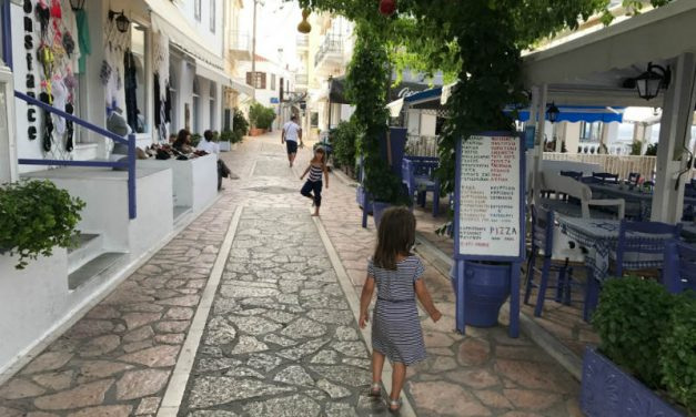 Spetses: car-free island with giant trucks