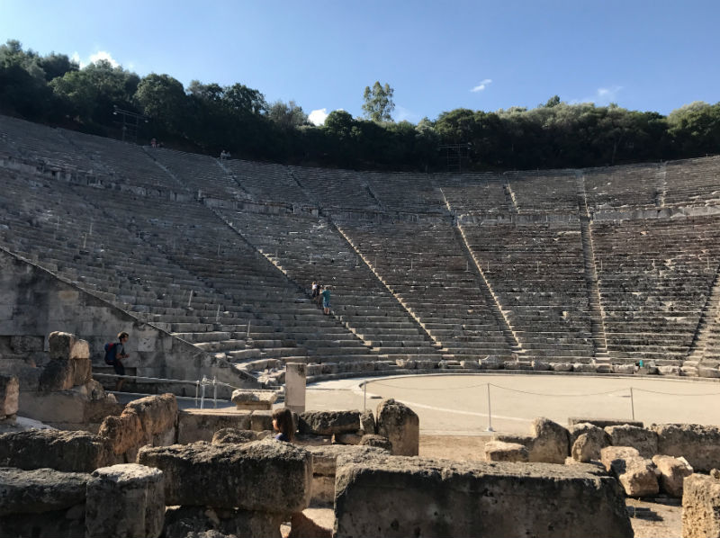 The famous ancient theatre of Epidaurus was constructed in the late 4th century BC