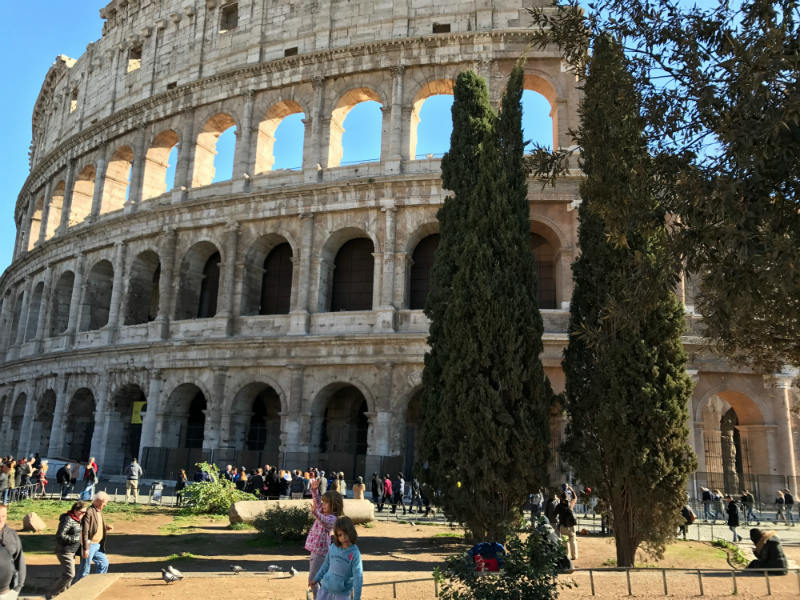 One of the best spots for photographing outside of Colosseum
