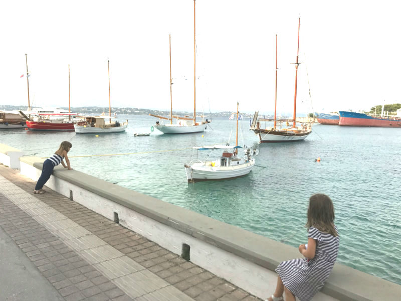 Spetses: car-free island with giant trucks