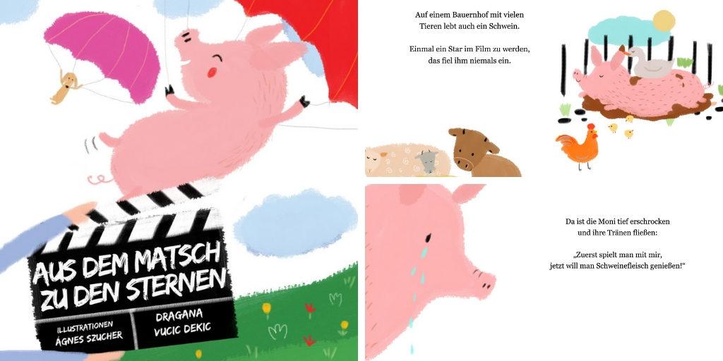 Schwein Vegan Kinderbuch